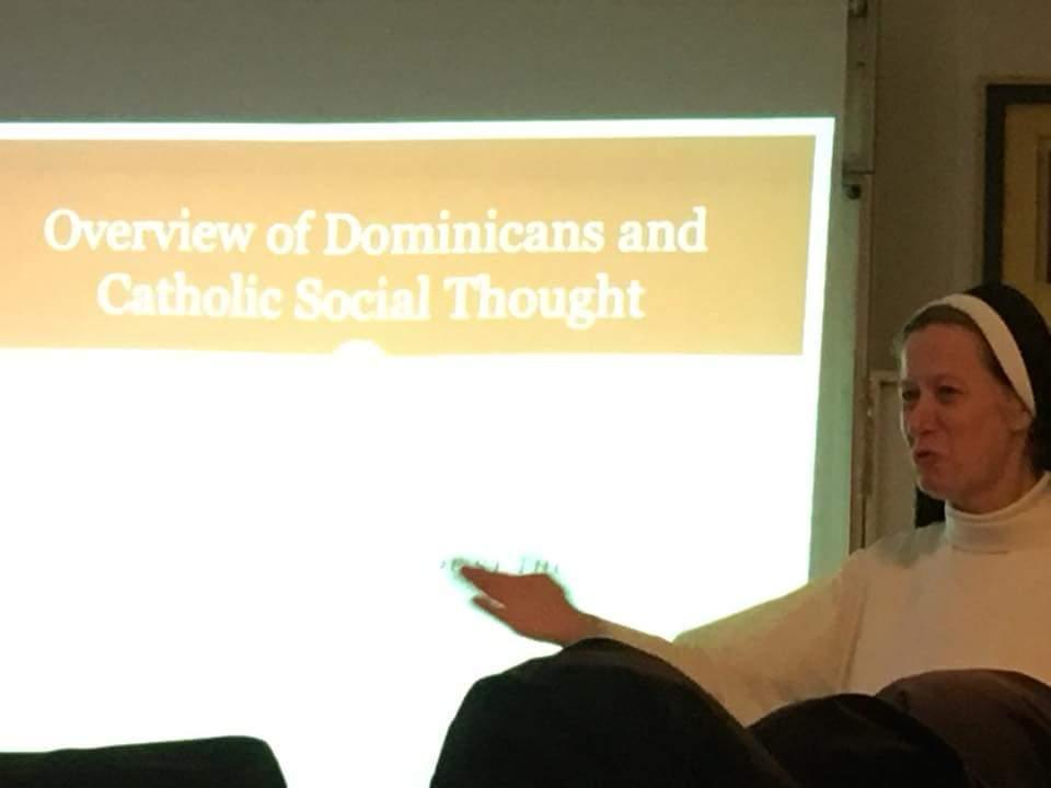 Sr. Helen Alford at Düsseldorf meeting in Oslo, Jan 2018
